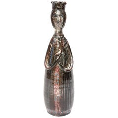 Glazed Ceramic Studio Gambone Style Sculpture Mid-Century Modern