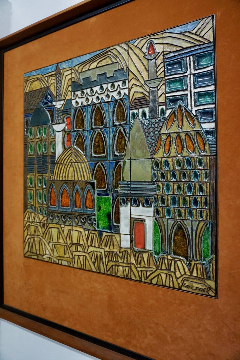 Glazed Ceramic Tiles by Raul Coronel For Sale 1
