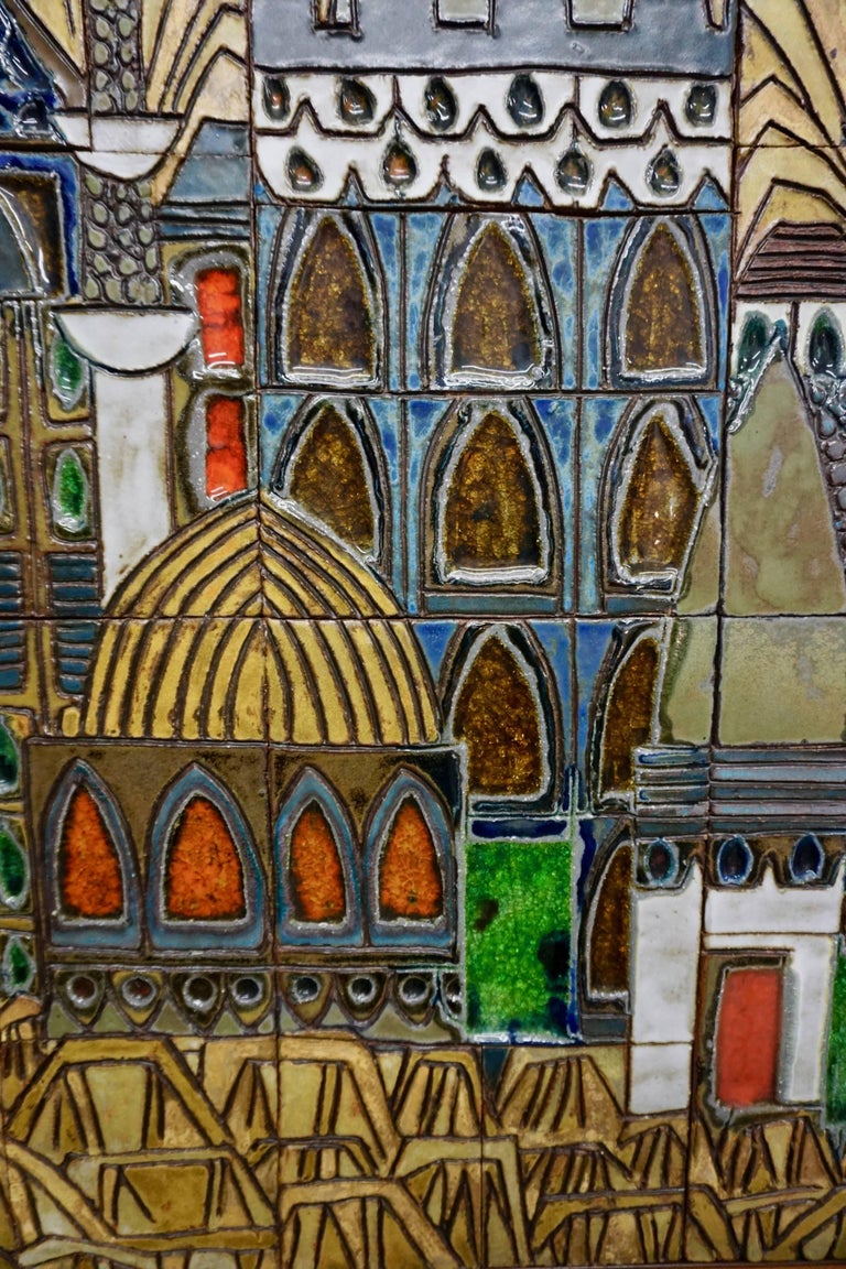 Glazed Ceramic Tiles by Raul Coronel For Sale 2