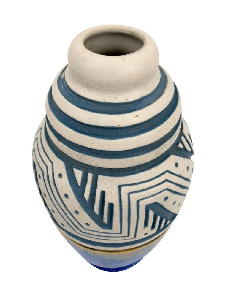 Glazed Ceramic Vase by Mougin, Art Deco, France, 1930s In Excellent Condition For Sale In Baden-Baden, DE