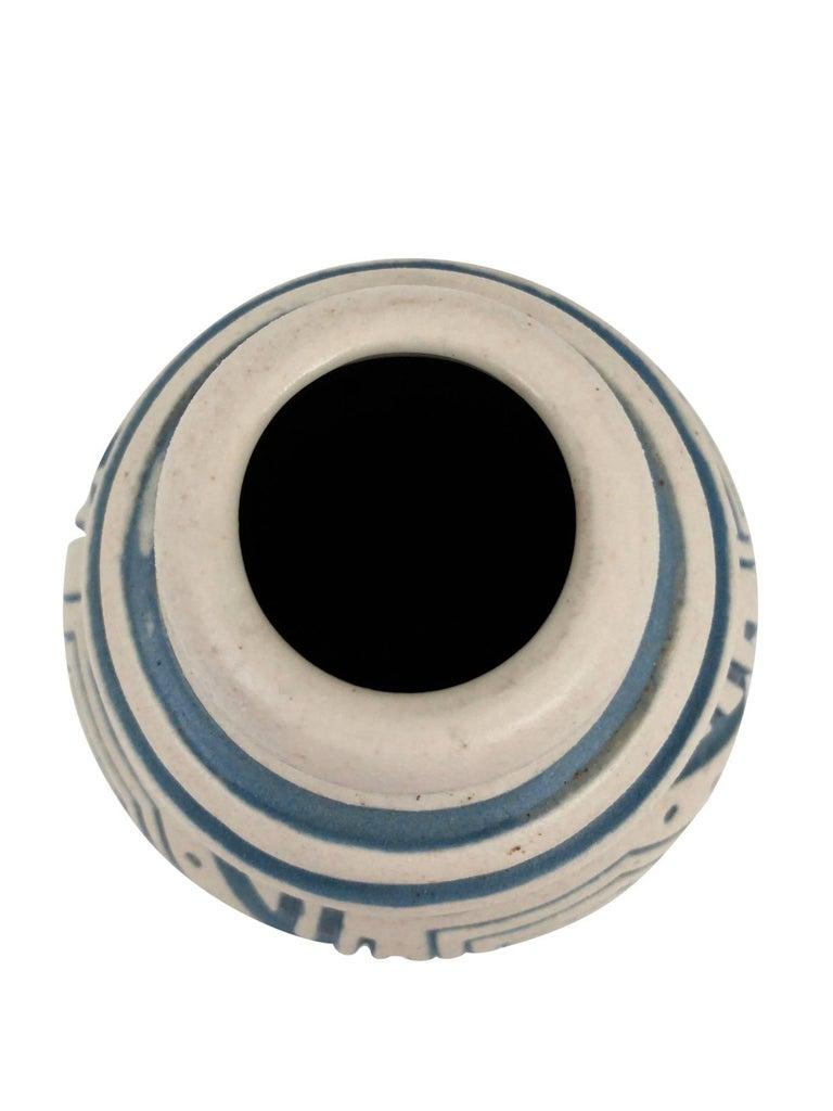 Mid-20th Century Glazed Ceramic Vase by Mougin, Art Deco, France, 1930s For Sale