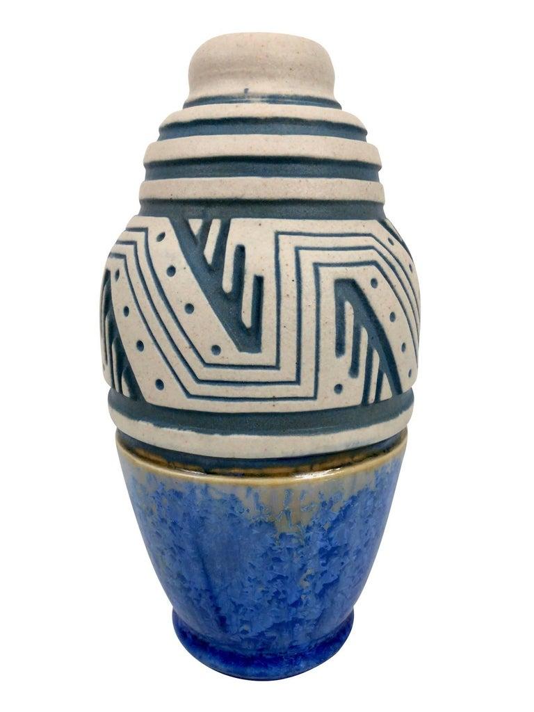 Glazed Ceramic Vase by Mougin, Art Deco, France, 1930s For Sale 2