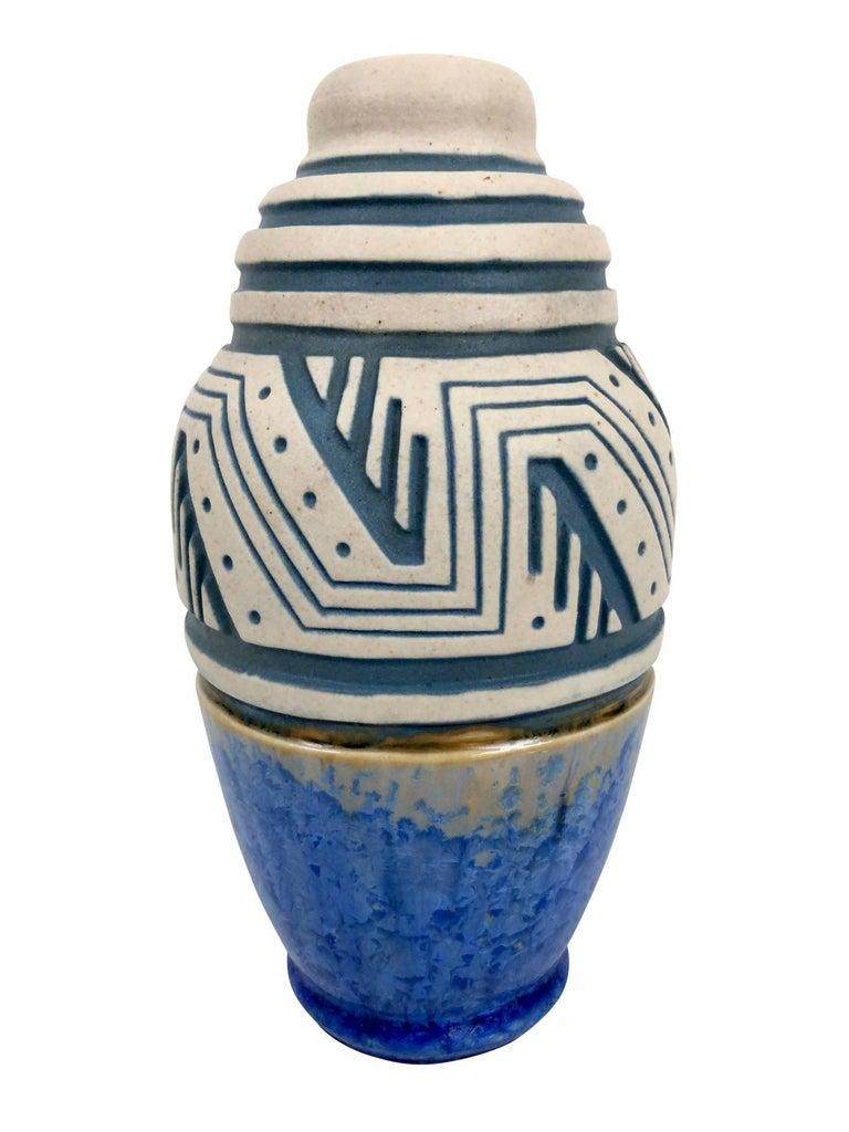Glazed Ceramic Vase by Mougin, Art Deco, France, 1930s For Sale 3