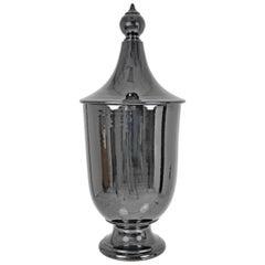 Glazed Italian Lidded Urn, Large Size