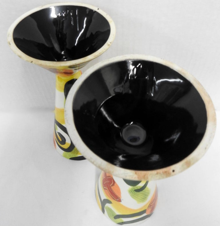American Glazed Pottery Goblets by Marilee Hall For Sale