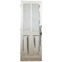 Glazed Reclaimed Tall Pine Door, 20th Century