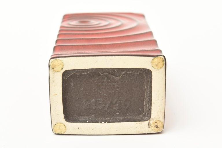 Glazed Red Ceramic Zyclon Vase by Cari Zalloni for Keramik Vintage For Sale 3