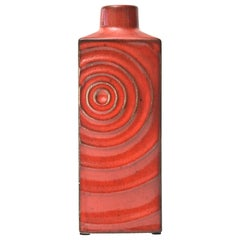 Glazed Red Ceramic Zyclon Vase by Cari Zalloni for Keramik Vintage