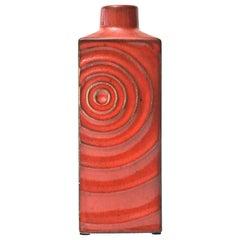 Glazed Red Ceramic Zyclon Vase by Cari Zalloni for Keramik Vintage