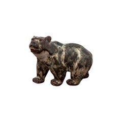 Glazed Stoneware Bear Figurine, Knud Kyhn for Royal Copenhagen #20155
