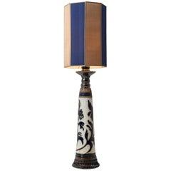 Glazed Stoneware Table Lamp