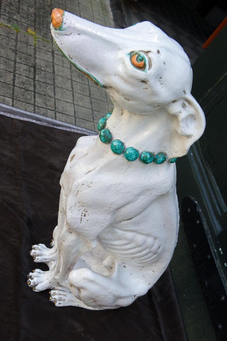 Glazed Terra Cotta Stylish Greyhound For Sale 8