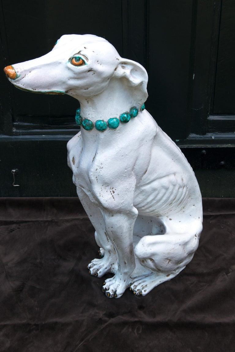 Terracotta Glazed Terra Cotta Stylish Greyhound For Sale