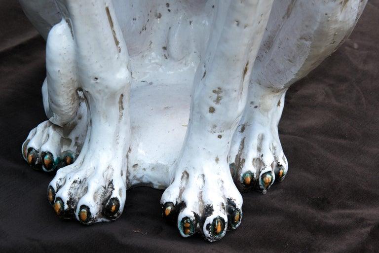 Glazed Terra Cotta Stylish Greyhound For Sale 3