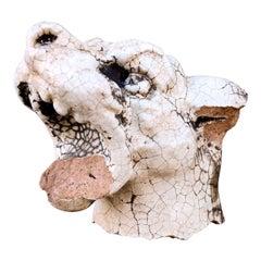 Glazed Terracotta Barking Dog