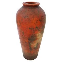 Glazed Terracotta Floor Vase