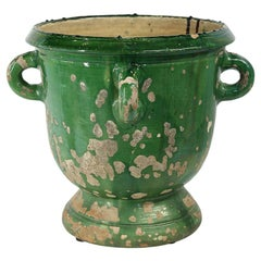 Glazed Terracotta Planter from Anduze, France