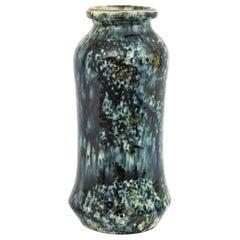Glazed Terracotta Spanish Spotted Vase, 1960s