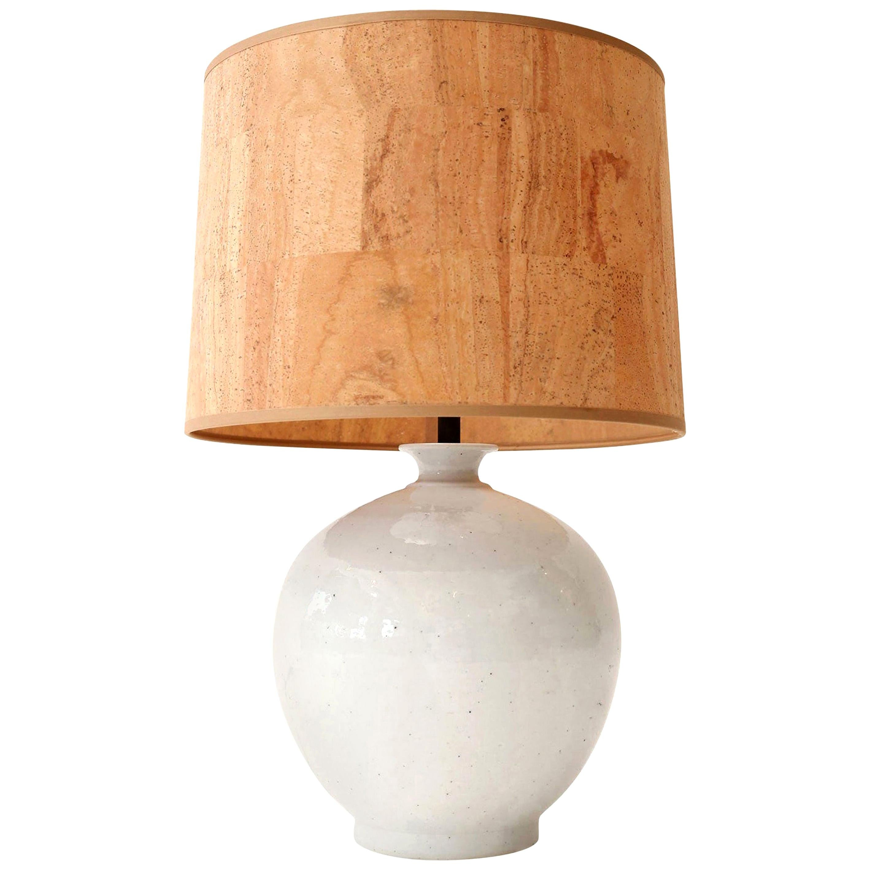 Pair of Large Terracotta Table Lamps at