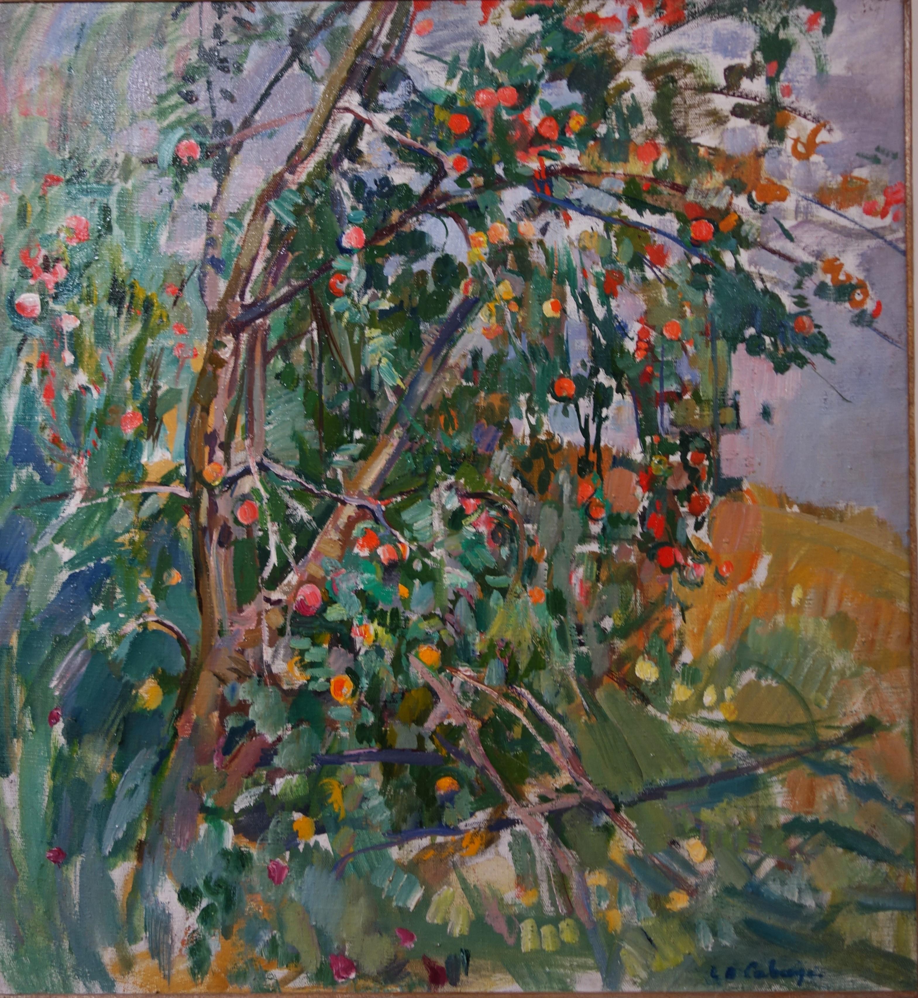 """Apple tree"" Oil cm. 67 x 72 1980"