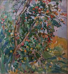 """Apple tree"" Oil cm. 67 x 72 1980"