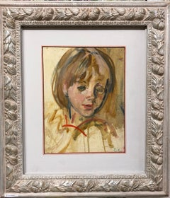 """Katia portrait ""  Child, Oil cm. 24 x 30  1975"