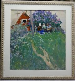 """""""summer evening """"    cm. 70 x 75  oil"""