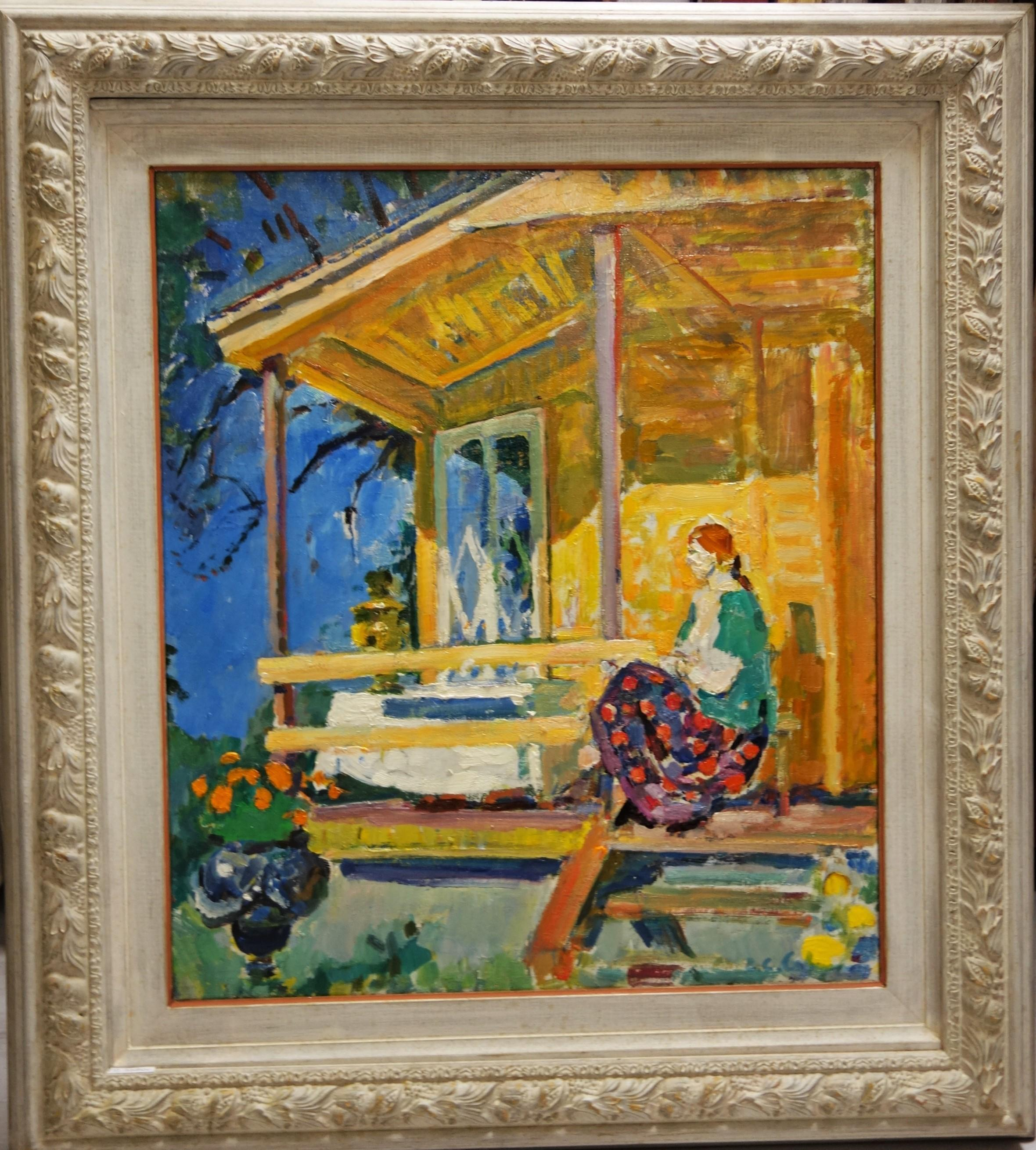 """Sunny day in Dacia"" Summer ,Impressionist,  cm. 55 x 65 Olio 1990"