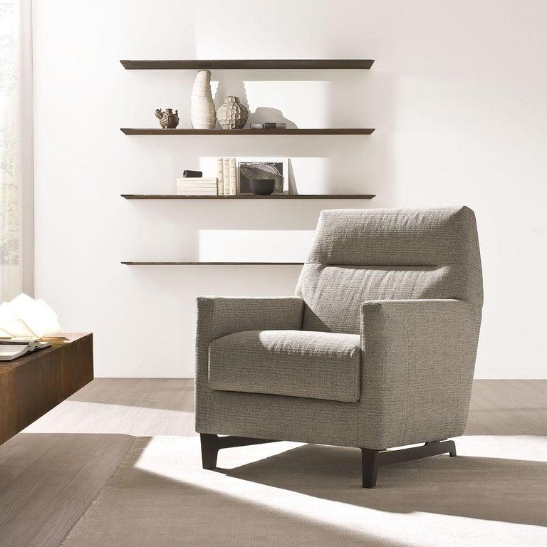 Italian Glee Gray Armchair For Sale