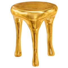 Glee Side Table in Brass by Scarlet Splendour