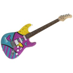 Glen Burton Romero Britto Guitar for Lauren's Kids Charity