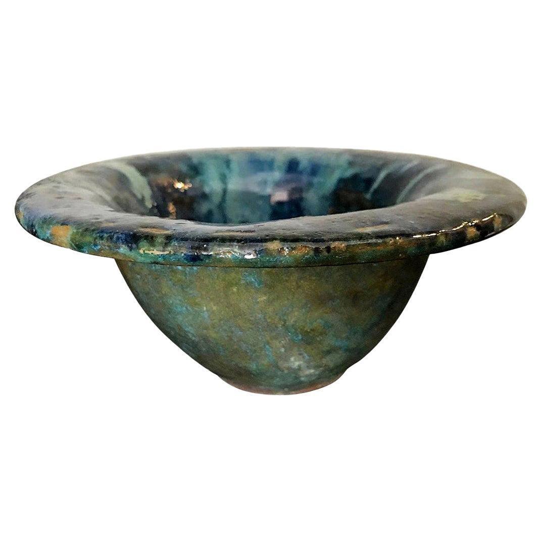Glen Lukens Signed Mid-Century Modern Glazed Ceramic Pottery Bowl