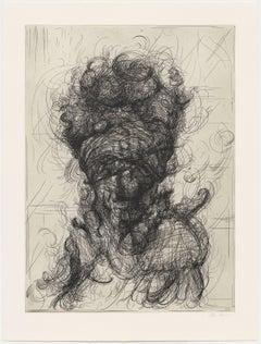 Glenn Brown, Half-Life #4 (after Rembrandt), Etching, 2017