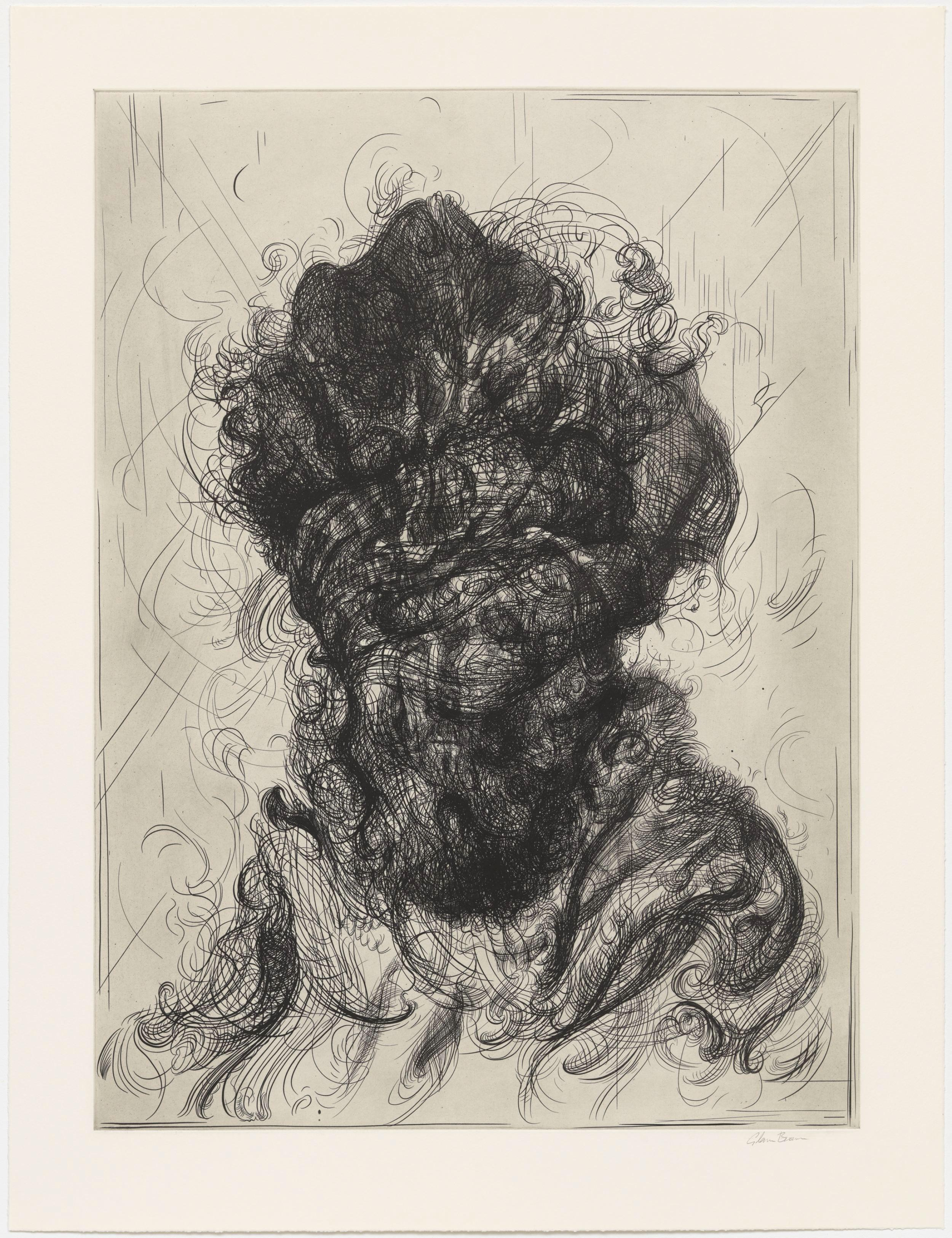 Glenn Brown, Half-Life #5 (after Rembrandt), Etching, 2017