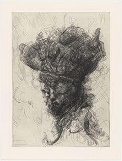 Glenn Brown, Half-Life #6 (after Rembrandt), Etching, 2017