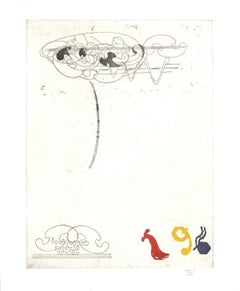 1987 Glenn Goldberg 'Paco + J.J.' Black & White Etching