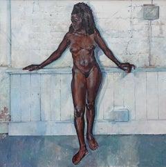 Algerian. Contemporary Nude Oil Painting