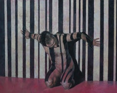 'Barcode; 6079 Smith; W.'  Contemporary Figurative Oil Painting