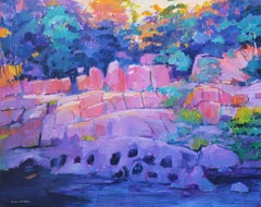 Cataract Gorge 1, Painting, Oil on Canvas