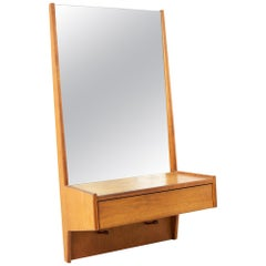 Glenn of California Midcentury Walnut Entry Mirror