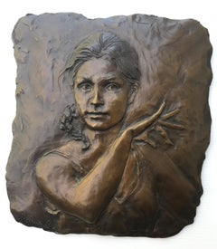 """Christina"" Bronze Bas Relief"