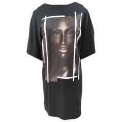 Gli Psicopatici black cotton long dress