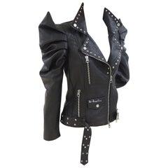 Gli Psicopatici black leather Lady Gaga Jacket