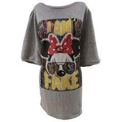 Gli Psicopatici I am Fake Minnie cotton long dress / sweater