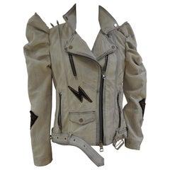 Gli Psicopatici off white leather Madonna X Jacket