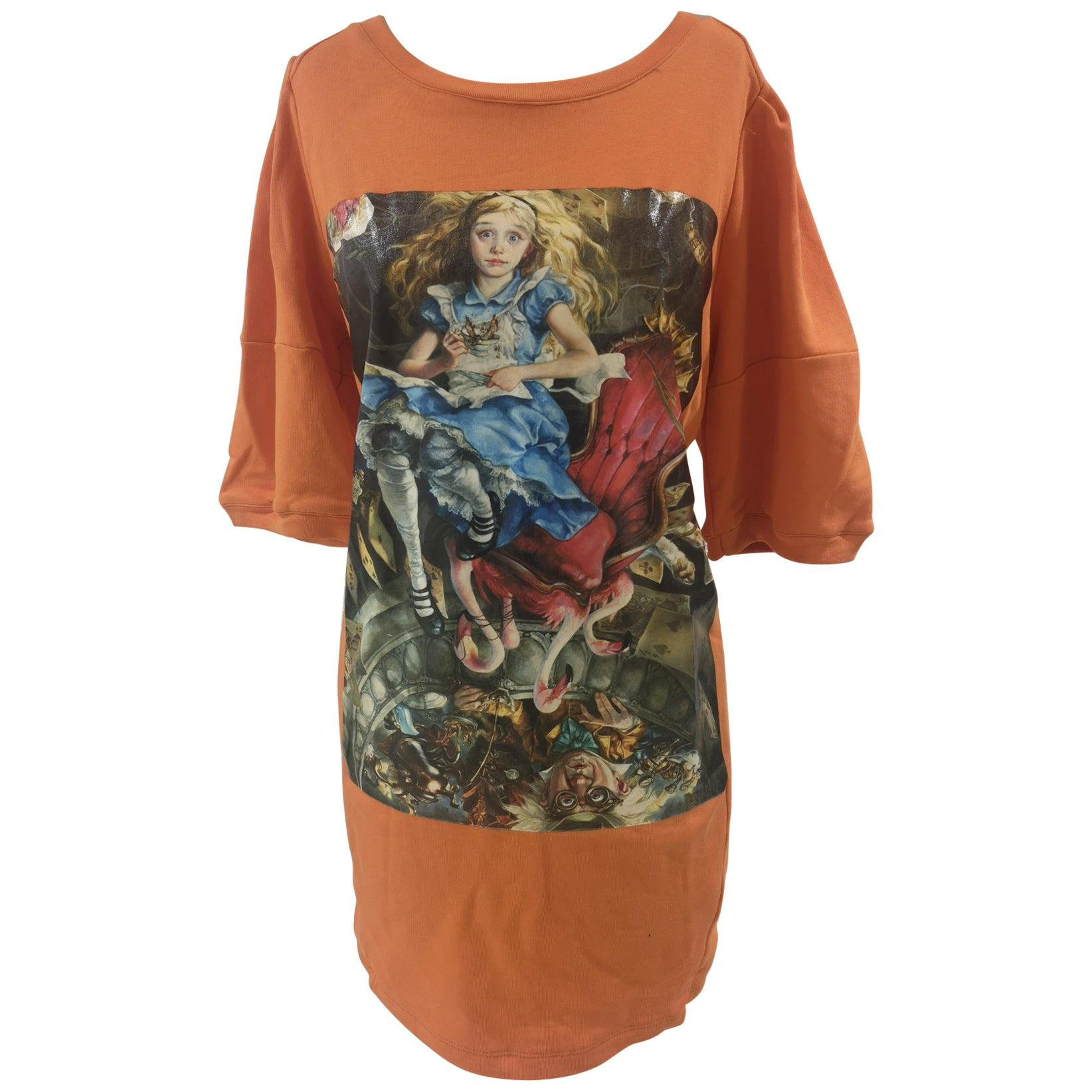 Gli Psicopatici orange Alice in Wonderland dress / sweater