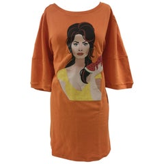 Gli Psicopatici orange long dress / sweater