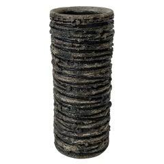 Glit Lava Brutalist Cylinder Vase, Iceland