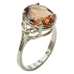 Gemjunky Glittering Golden Tourmaline Sterling Silver Cocktail Ring