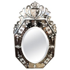 Glitzy Medium Sized Venetian Mirror